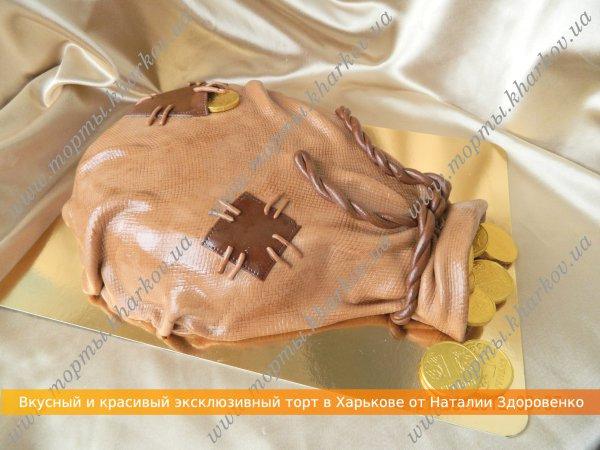 Торт мешок с деньгами-показать фото
