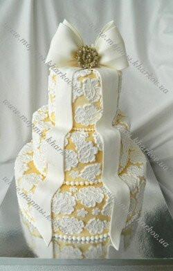 Свадебный ажурный торт