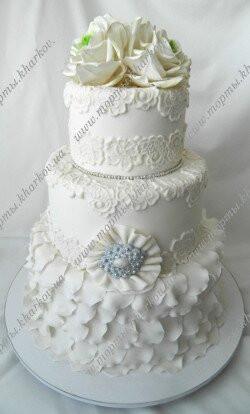Свадебный торт - платье невесты