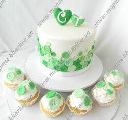 Свадебный торт с пуговицами