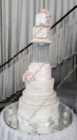 Свадебный торт с хрустальной подставкой