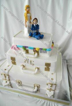 Свадебный торт чемоданное настроение