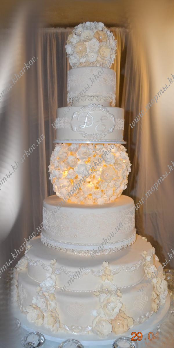Экслюзивные свадебные торты - фотографии
