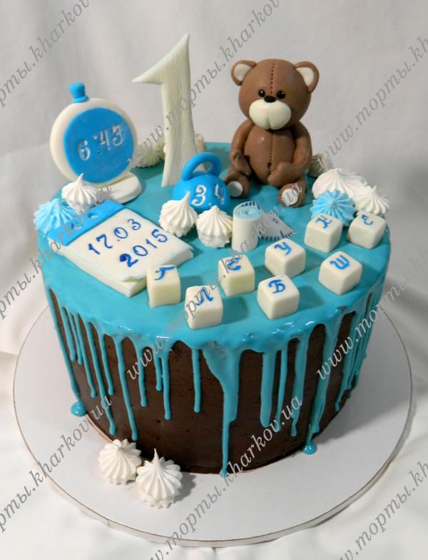 Как украсить торт на 1 годик девочке, мальчику: рецепты, идеи с