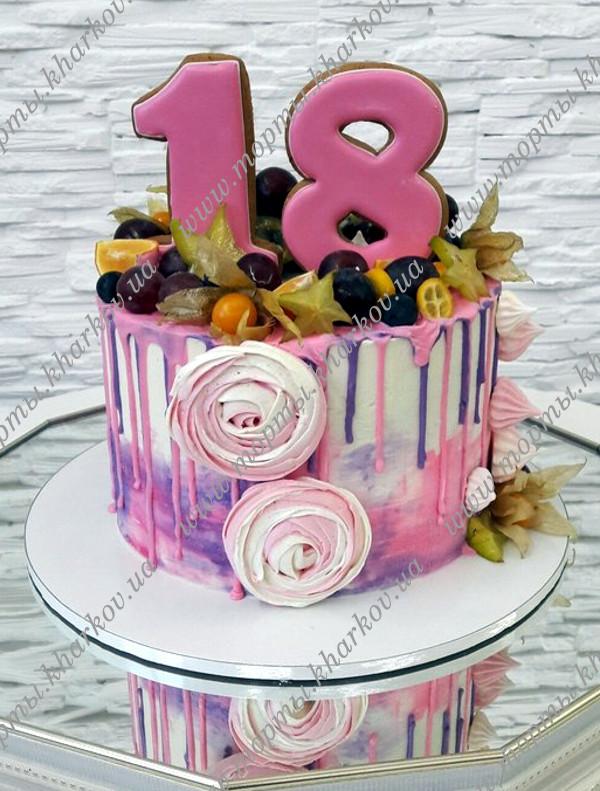 Фото торта без мастики на 18 лет