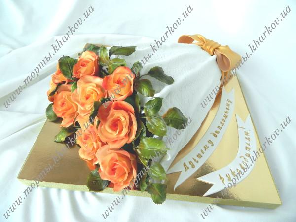 рецепт торта в виде букета цветов