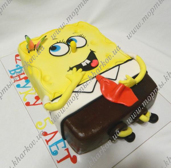 Детские торты харьков губка боб фото