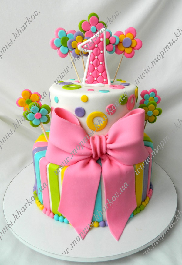 Как украсить торт для девочки на день рождения своими руками фото 370