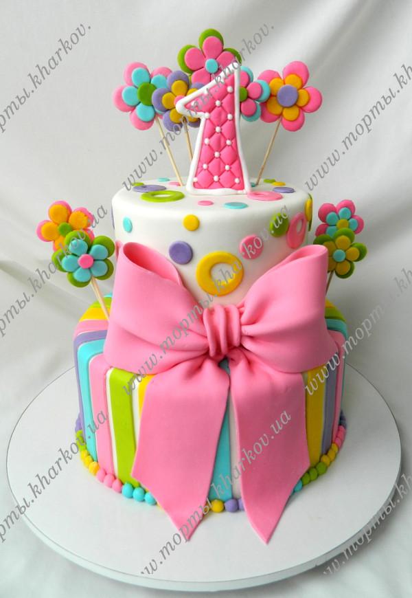 тест-площадка красивый торт на годик девочке фото отдайте