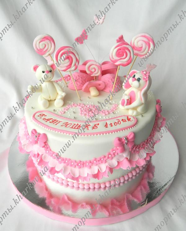 детские торты на 1 годик для девочек фото