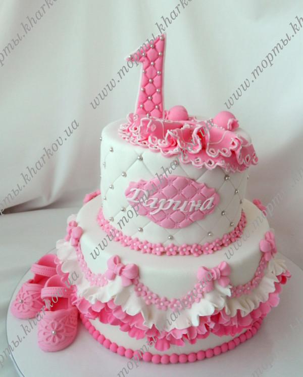 Фото торт на годик для девочки