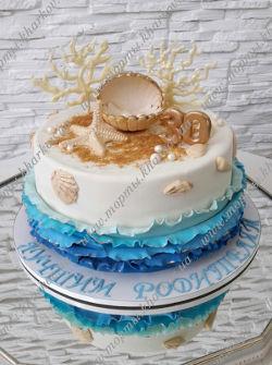 Торт на жемчужную свадьбу.