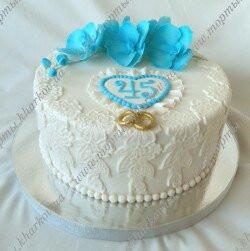 Торт на сапфировую свадьбу в Харькове