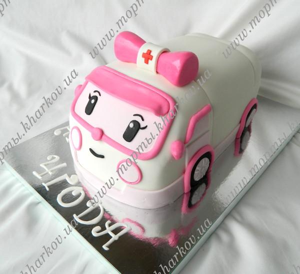торт с поли робокар фото