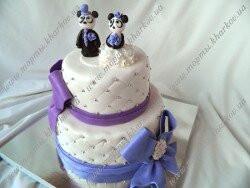 Торт свадебный с пандами