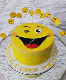 смайлик торт фото