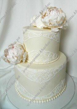 Торт с пионами на День рождение