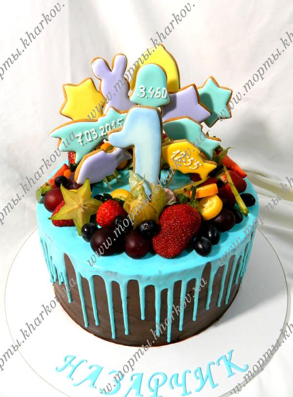 Торт с пряниками и ягодами