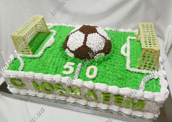 торт футбольное поле фото