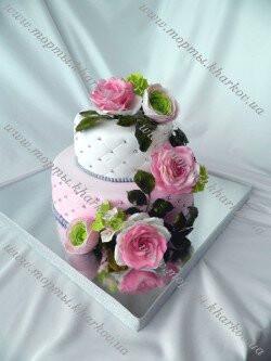 Торт цветы - свадебный